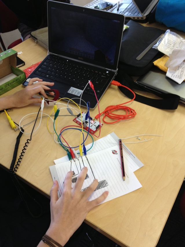 using makeymakey as a controller for minecraft